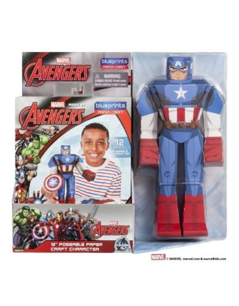 "MARVEL Captain America Paper Craft Poseable Figure 12"""