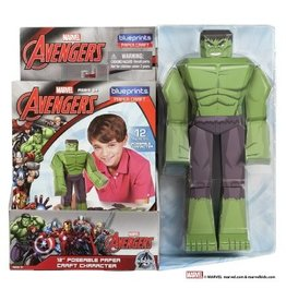 MARVEL HULK Paper Craft Poseable Figure