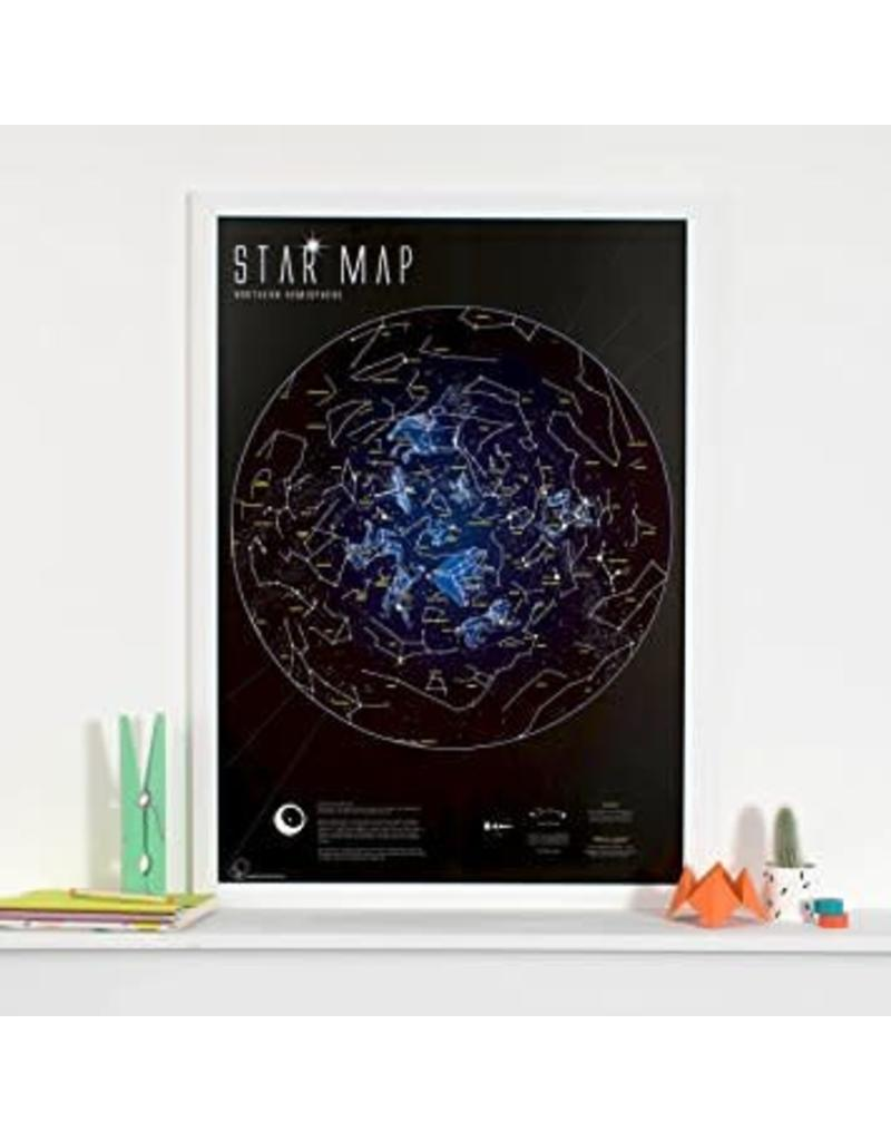 Round world Glow in the Dark Star Map