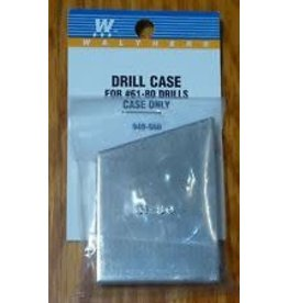 Walthers Drill Case w/Bit Set -- Includes #61-80 Drills