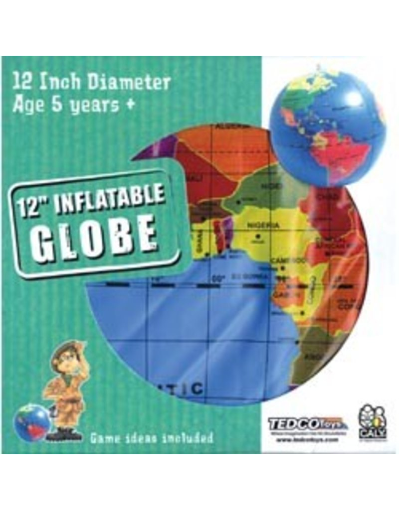 "Tedco Toys 12"" Inflatable Globe"