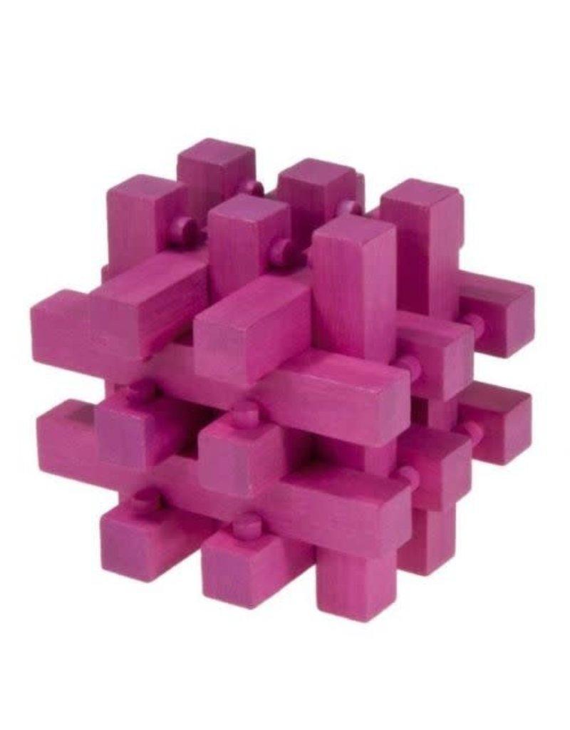 Fridolin IQ-Test Bamboo Puzzle - Magenta