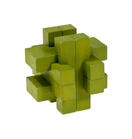 Fridolin I-Q Test Bamboo Puzzle - Olive Green