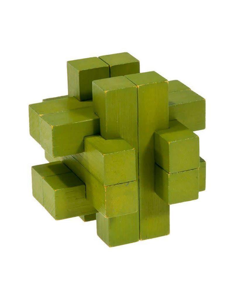 Fridolin I-Q Test Bamboo Puzzle - Olive Green
