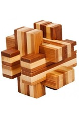 Fridolin IQ-Test Bamboo Puzzle - Double Cross