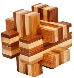 Fridolin IQ-Test Bamboo Puzzle - Double Cross