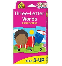School Zone Flash Cards - Three-Letter Words