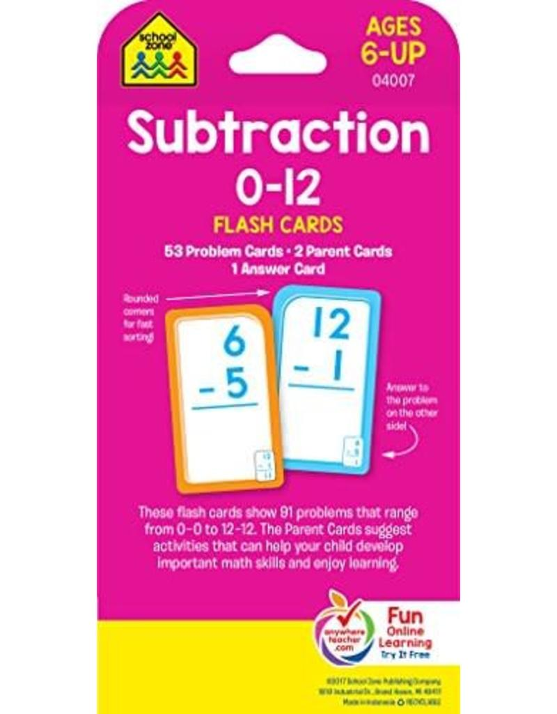 School Zone Flash Cards - Subtraction 0-12