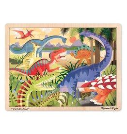 Melissa & Doug Wooden Jigsaw Puzzle Dinosaur