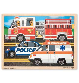 Melissa & Doug Rescue Vehicles 24 Piece Wooden Jigsaw Puzzle