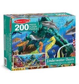 Melissa & Doug Underwater Oasis Floor Puzzle (200 pc)