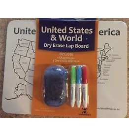Round world United States & World Dry Erase Lap Board