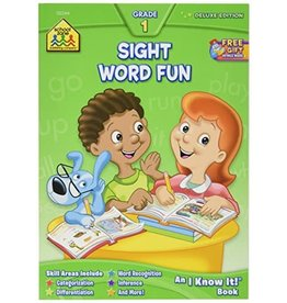 School Zone Write & Reuse Workbook - Sight Word Fun - Grade 1
