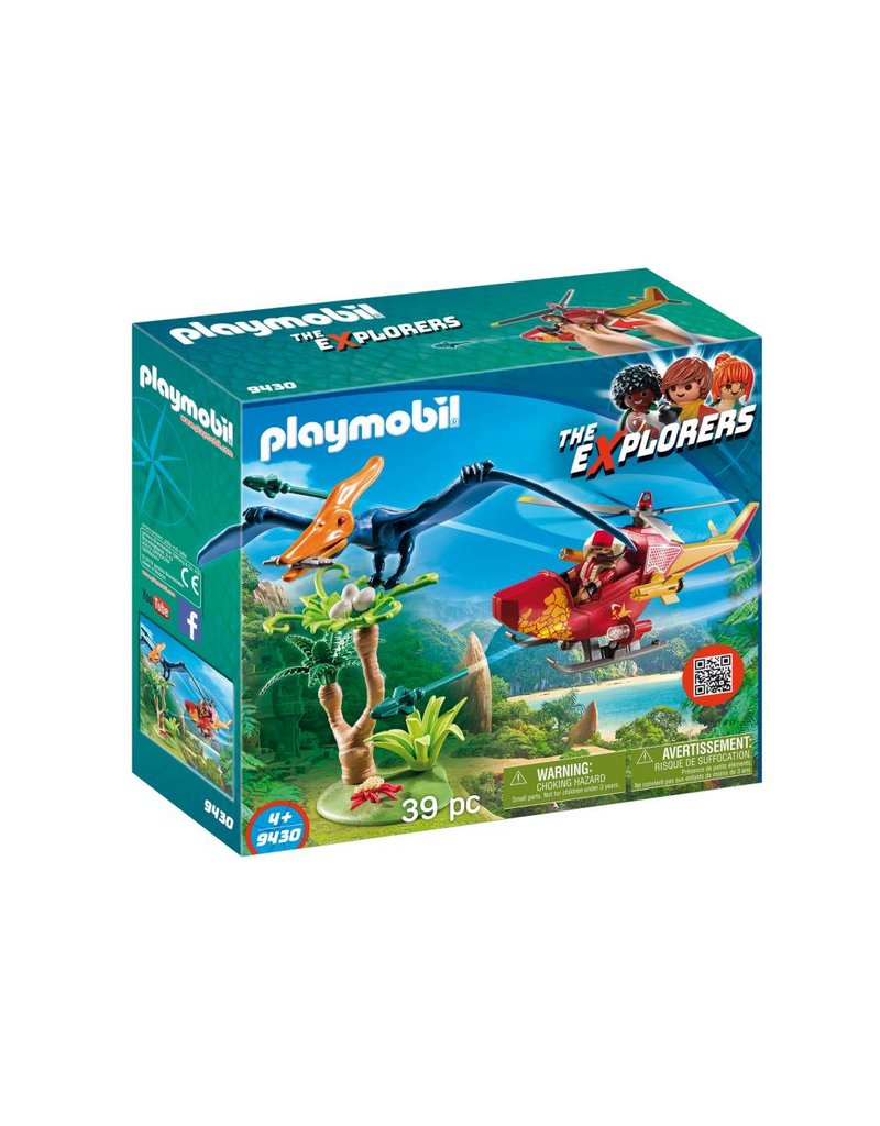 Playmobil Adventure Copter with Pterodactyl 9430