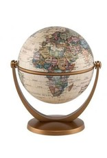 "Round world Stellanova Antique Globe - 4"" Diameter"