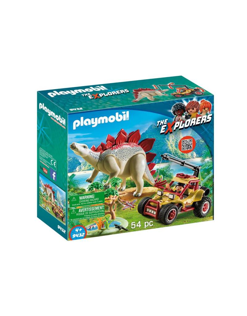 Playmobil Playmobil Explorer Vehicle With Stegosaurus 9432