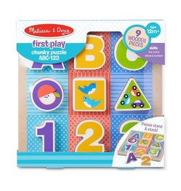Melissa & Doug First Play Chunky Puzzle ABC-123