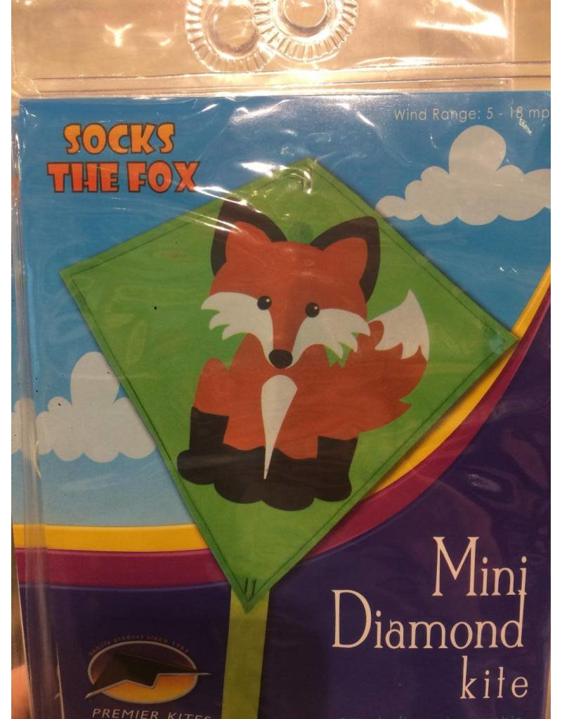 Premier Kites Socks the Fox Mini Diamond Kite