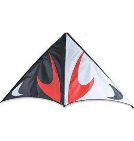 "Premier Kites 80"" Travel Delta, Black & Red, Travel Kite"