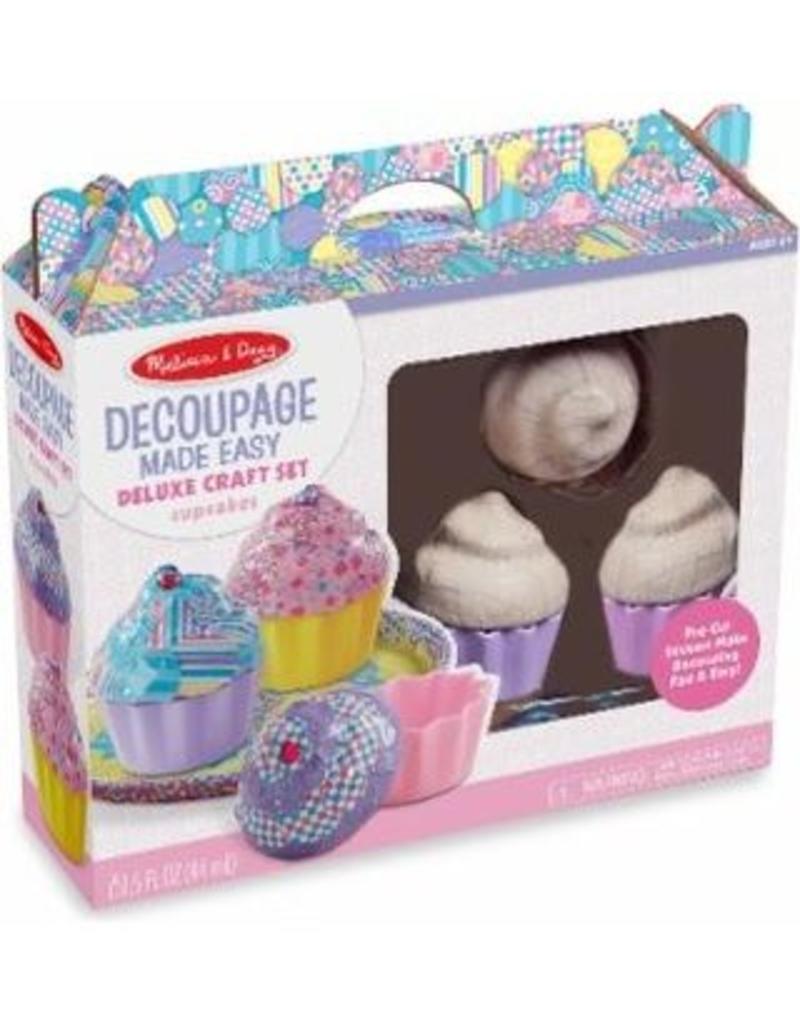 Melissa & Doug Decoupage Made Easy Deluxe Craft Set Cupcakes