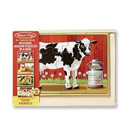 Melissa & Doug Wooden Jigsaw Puzzle In A Box - Farm Animals