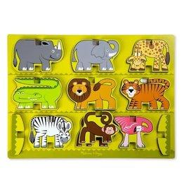 Melissa & Doug Stacking Wooden Chunky Puzzle - Zoo Animals