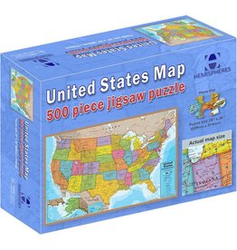 Round world United States Map Jig Saw Puzzle 500 PIECE