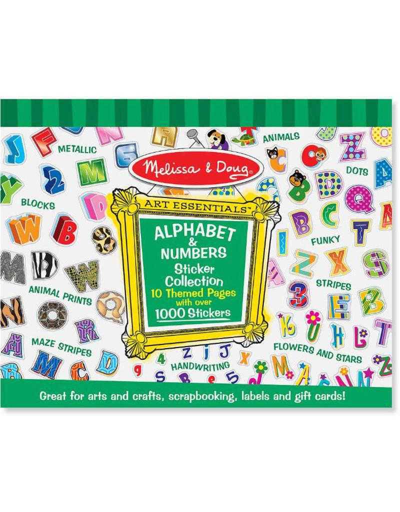 Melissa & Doug Alphabet & Numbers Stickers Collection