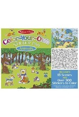 Melissa & Doug Color Your Own Sticker Pad - Animals