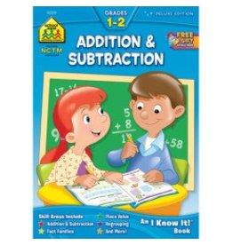 School Zone Addition & Subtraction Work Book - Grade 1-2