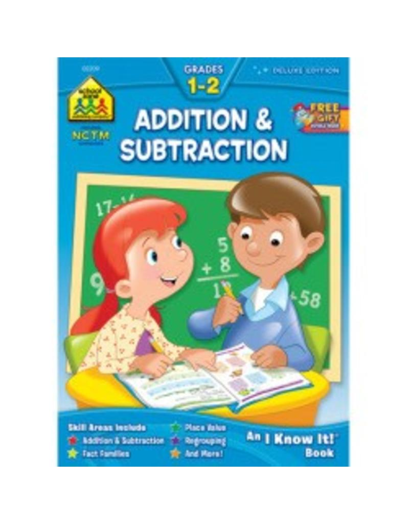 School Zone Addition & Subtraction Work Book - Grade 1-2