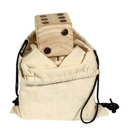 Franklin Sports Life Sized Wooden Dice in Bag