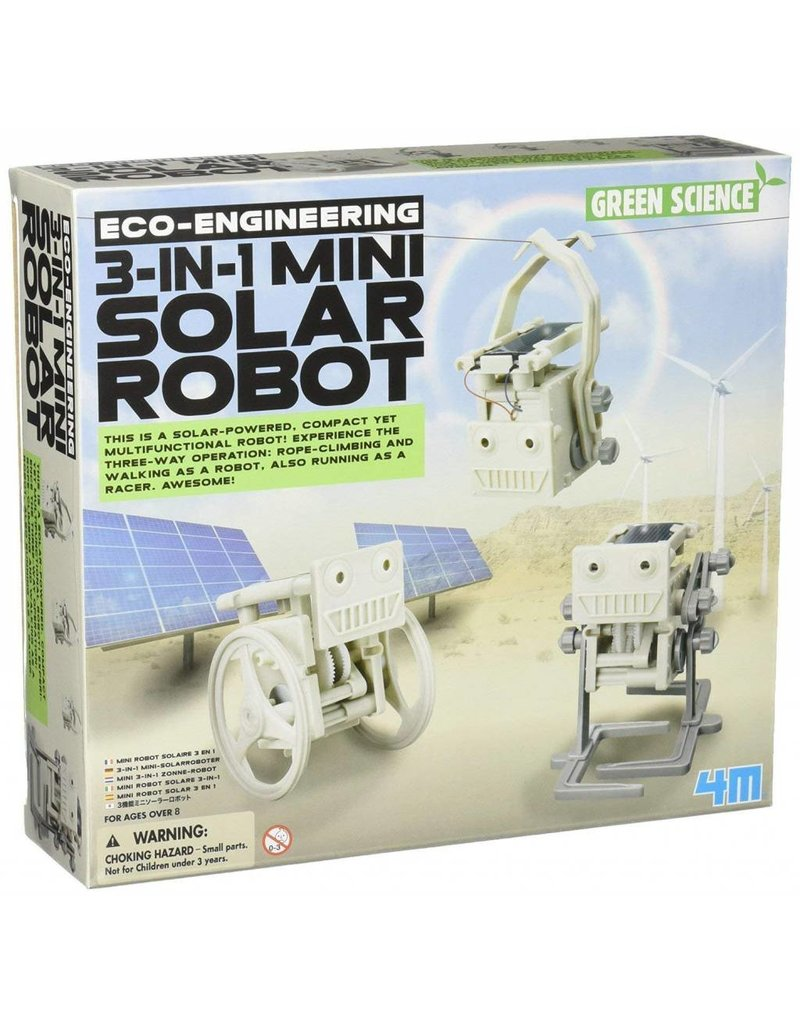 Toysmith 3 in 1 Mini Solar Robot