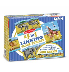 Melissa & Doug Safari Linking Floor Puzzle (96 pc)