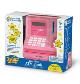 Learning Resources Pretend and Play Teaching ATM  Bank - Pink