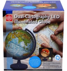 "Elenco 11"" Dual Cartograph Illuminated Globe"