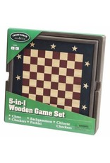 University Games 5-in-1 Wooden Game Set
