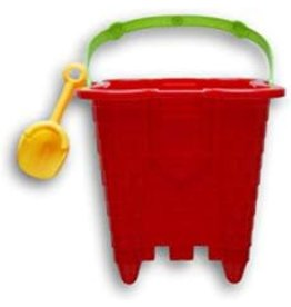 Greenbrier International Started Sand Castle Set - Mould & Shovel (Colors Vary)