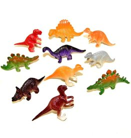 "Rhode Island Novelty Set of 10 - Mini Assorted Dinosaurs (2"")"