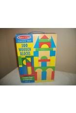 Melissa & Doug 100 Pc. Wood Blocks Set