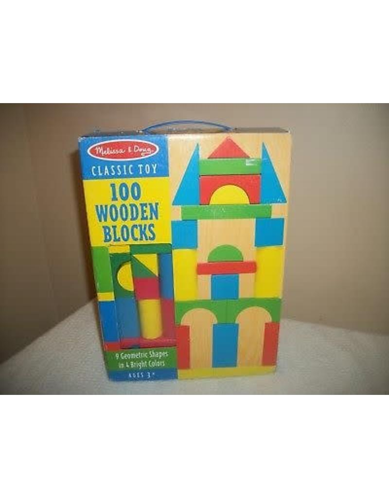 Melissa & Doug 100 Piece Wood Block Set