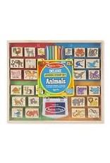 Melissa & Doug Deluxe Wooden Stamp Set - Animals