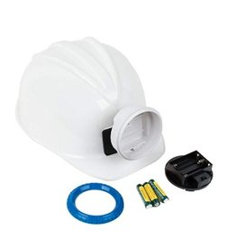 Squire Boone Village Miner Helmet, White with Blue Ring