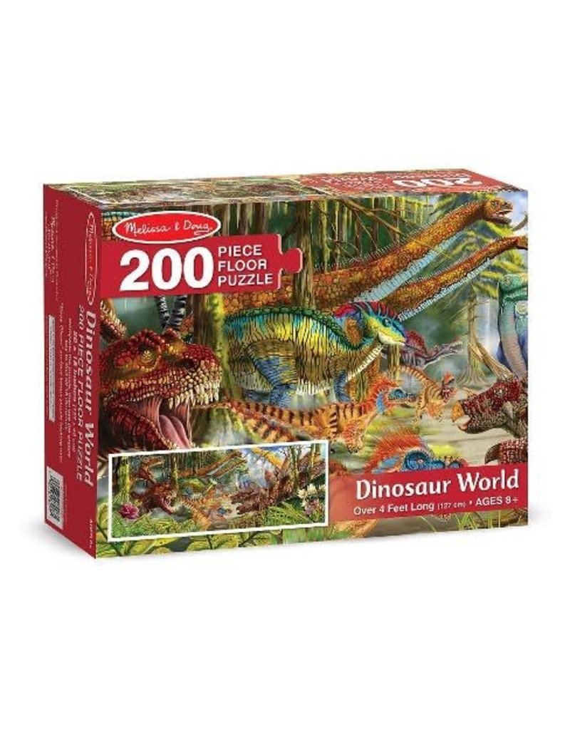 Melissa & Doug Dinosaur World Floor Puzzle (200 pc)