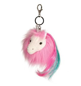 Douglas Hot Pink Unicorn Fur Fuzzles Pom Clip-On