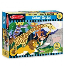 Melissa & Doug Safari Social Floor Puzzle (24 pc)
