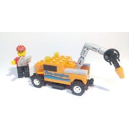 Hobbies Unlimited Mini Transportation Orange Fire Truck Egg