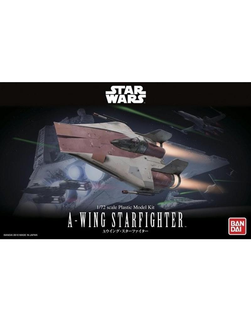 Bandai Ban dai-star wars-1/72 A-Wing starfighter set kit