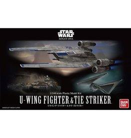 Bandai Ban Dai - Star Wars - U-Wing Fighter & Tie Striker 1/144 Scale Plastic Model Kit