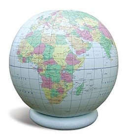 """Geo Toys 36"""" Inflatable Blue Politial Globe"""
